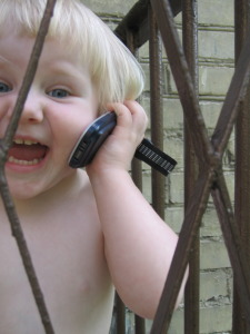 child on cell phone