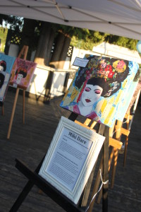 Geisha Girl stereotype Survivor work on display